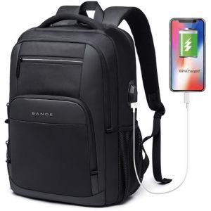 Men's Large Capacity USB Charging School Backpack