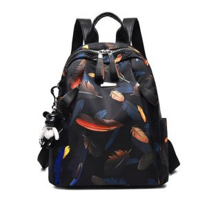 Girl's lightweight printed large-capacity backpack