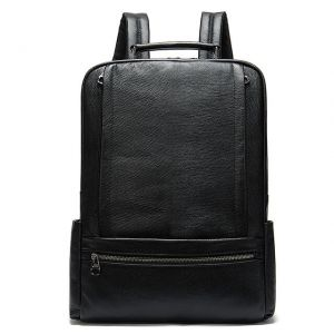 Men's business leather backpack
