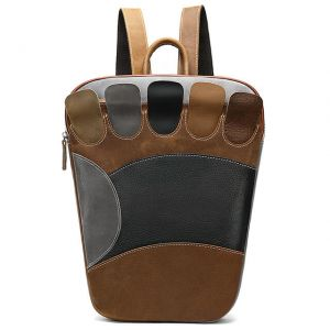 Stylish Foot type leather backpack