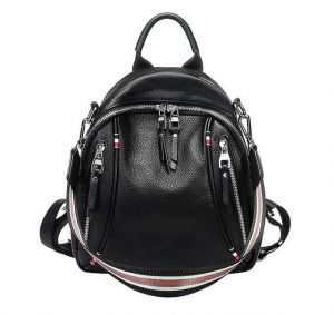 Women's Soft Leather Large Capacity Backpack
