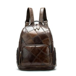 Women's Vintage Plaid Backpack